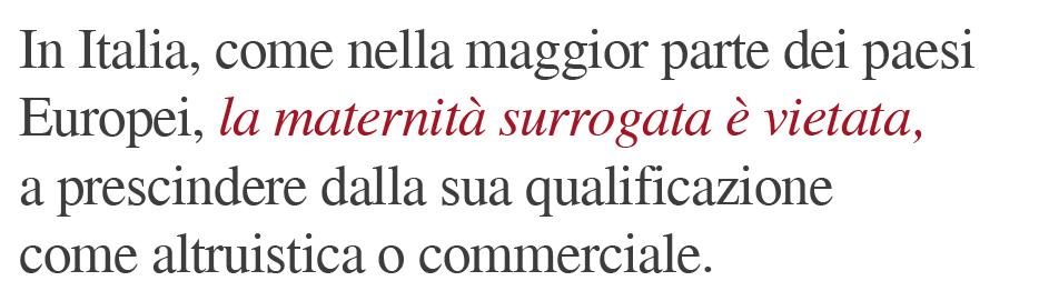 maternita surrogata vietata italia